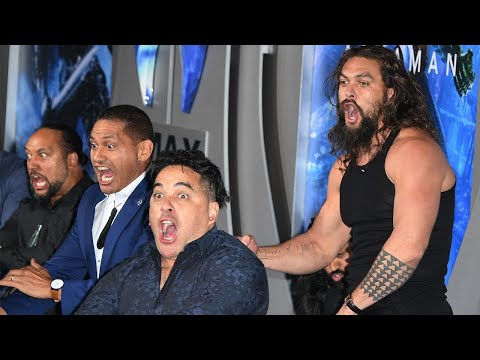Jason Momoa and 'Aquaman' Cast Perform Traditional Haka at Film's Premiere
