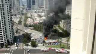 I shot this video from my hotel window while I was in San Diego of the Kansas City BBQ fire on 6-26-08. The video was actually used on the San Diego Channel ...