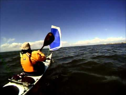 Seakayaking with a Flat Earth sailing rig. thumbnail