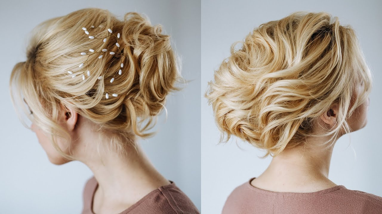 Short Hair Wedding Updo Hairstyles For Short Hair From Kukla Lu Youtube