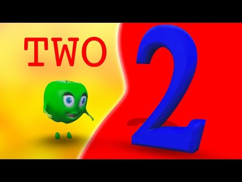 Numbers Song | Number 2 | Nursery Rhymes | Original Song By Rhymes Bus