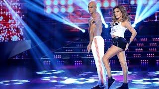 Florencia de la V deslumbró al jurado con un reggaetón encendido