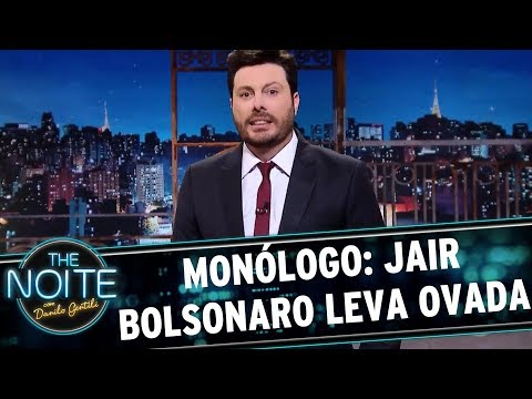 Monólogo: Jair Bolsonaro leva ovada | The Noite (21/08/17)