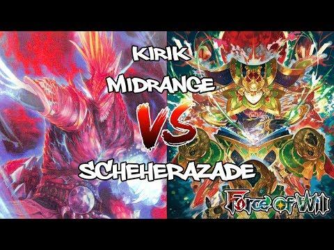 |Force of Will TCG| Reiya Cluster - Kirik Midrange VS Schere Post-Ban