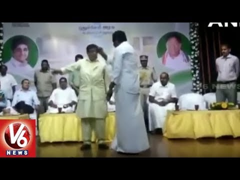 Fight Between AIADMK MLA Anbalagan And Lt Governor Kiran Bedi In Govt Function | Puducherry | V6