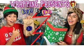 Wrapping Presents Parody - Boys Vs Girls - Comedy Skits : Just Giselle // GEM Sisters