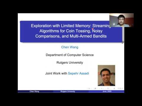Session 9C - Exploration with limited memory: streaming algorithms for coin tossing, noisy compariso