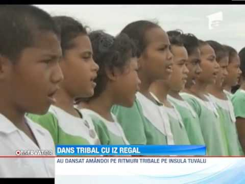 Printul William si Kate dans tribal pe insula Tuvalu