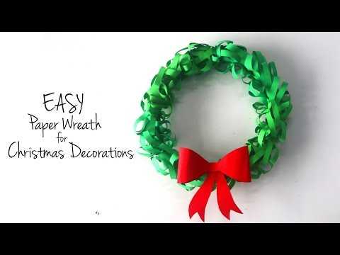 DIY Christmas Wreath | How to Make Paper Wreath | DIY Christmas Decorations