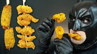 닭 목으로만 만든 치킨, 페리카나 꼬들목 & 미니핫도그 먹방 ASMR MUKBANG Fried Chicken Neck & mini hot dog EATING SHOW   벨트맨