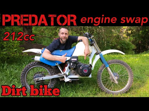 Predator 212cc engine swap mini bike motorcycle
