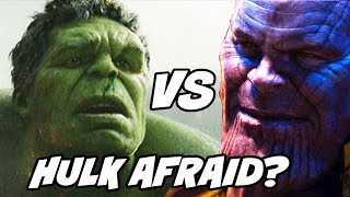 Why Hulk did not come out in Avengers Infinity War and Professor Hulk