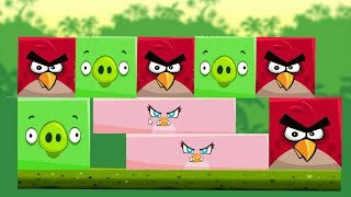 Angry Birds Kick Piggies - ALL SQUARE BIRDS AND PIG GOT KICKED AFTER STELLA TRANSFORMING!