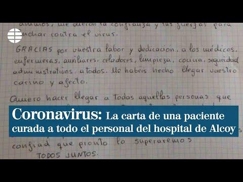 La carta de una paciente curada de coronavirus: