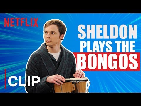 Sheldon Plays The Bongos | The Big Bang Theory | Netflix India