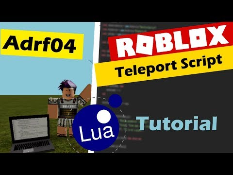 How To Make A Teleporter Script In Roblox Youtube