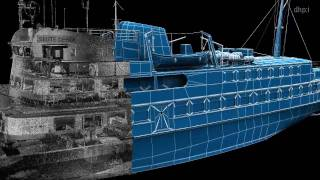 "Seute Deern by DHPI engineering Hamburg, Germany - Scanning of ""Seute Deern"" ferryboat"