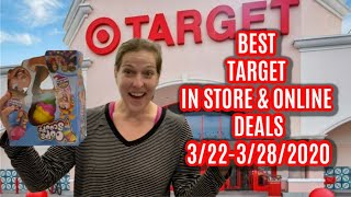 BEST TARGET IN STORE AND ONLINE DEALS (3/22-3/28/2020)
