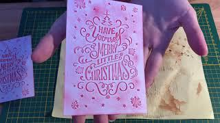 Revue sur les classeurs de gaufrage Noël de chez Action avec différentes utilisations