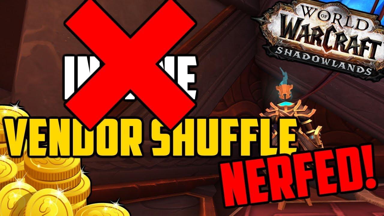 Vendor Shuffles & Shadowlands Goldfarms NERFED by Blizzard!
