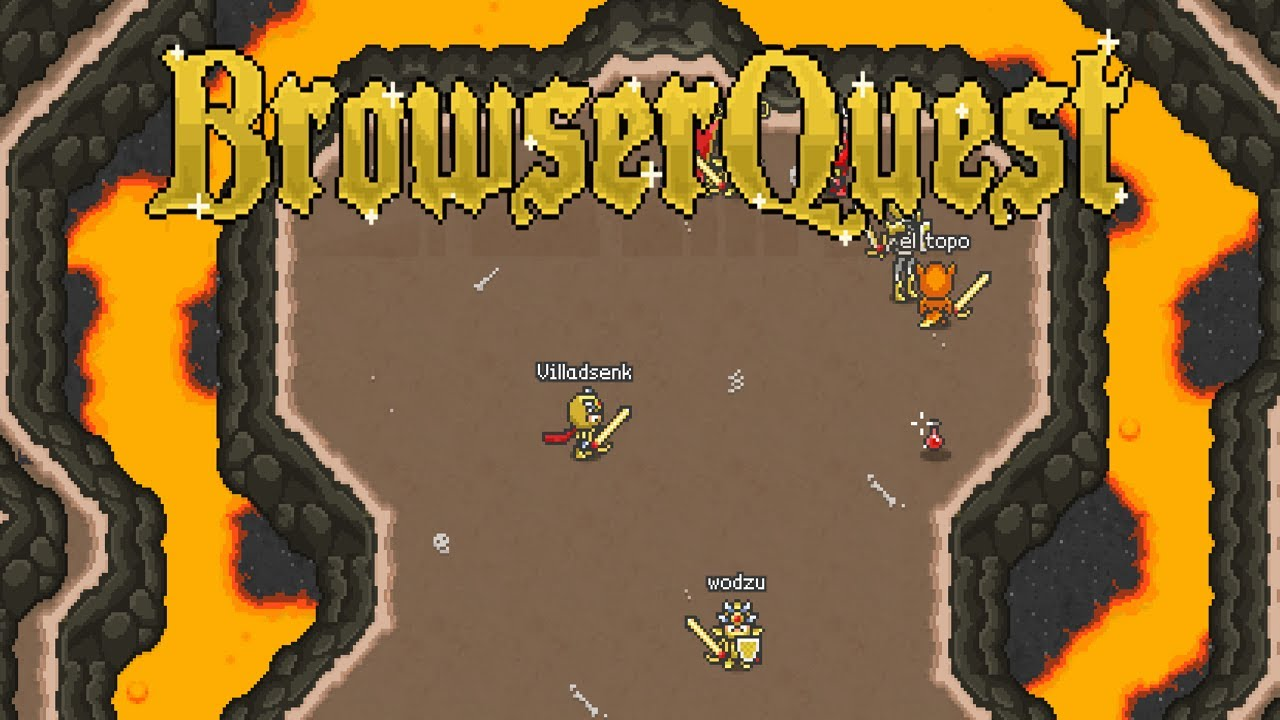 BrowserQuest Is A Massively-Multiplayer Adventure Game
