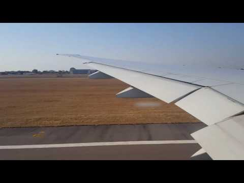Lusaka Airport to Harare Airport with Emirates Airline Boeing 777