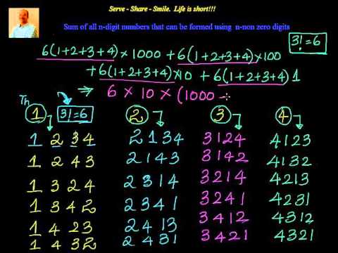 Sum of all n digit  numbers formed by n non zero digits -  no repetition allowed