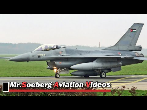 Delivery 2nd BATCH of Netherlands AF F16's to Jordanian AF at Volkel