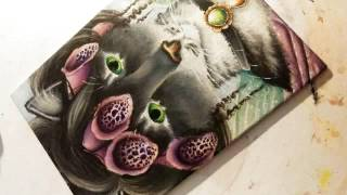 Painting Cat Eyes, Miss Foxglove Fairy Cat by TaraFly