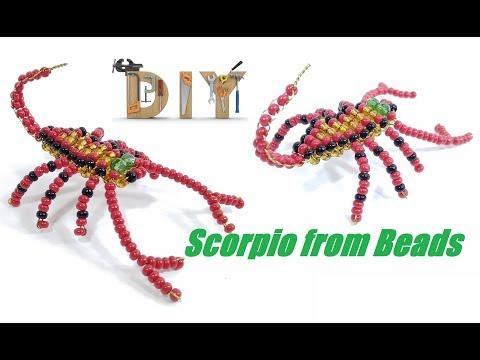 Объемный Скорпион из Бисера Мастер Класс! Скорпион из Бисера Своими Руками/ Scorpio from Beads!