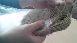 Обзор посылки с Алиэкспресс ващеный шнур для плетения браслетов