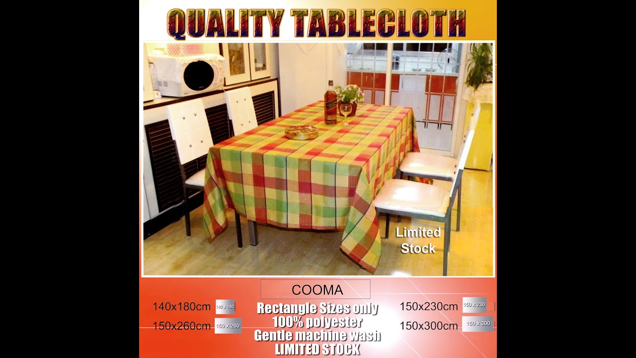 Cooma Tablecloth   YouTube