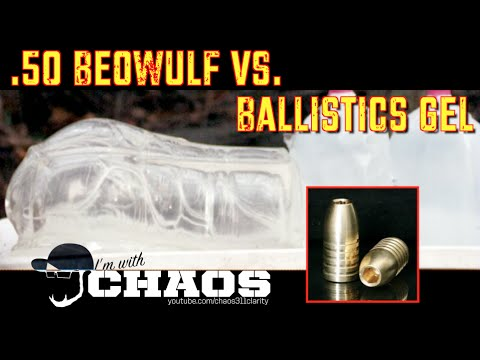 50 Beowulf Vs Ballistics Gel 5k Fps Slow Motion