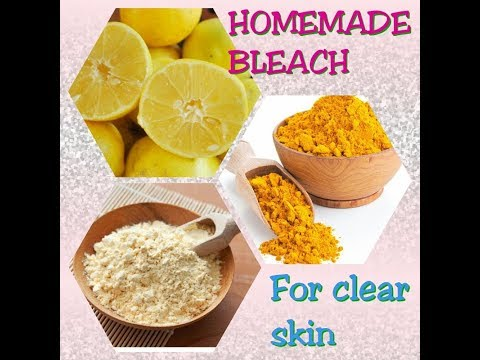Homemade Bleach for clear skin | simple & effective