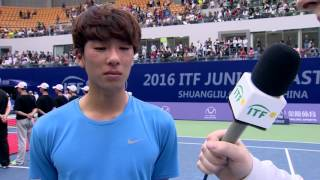 Hong Seong Chan wins the ITF Junior Masters men's title