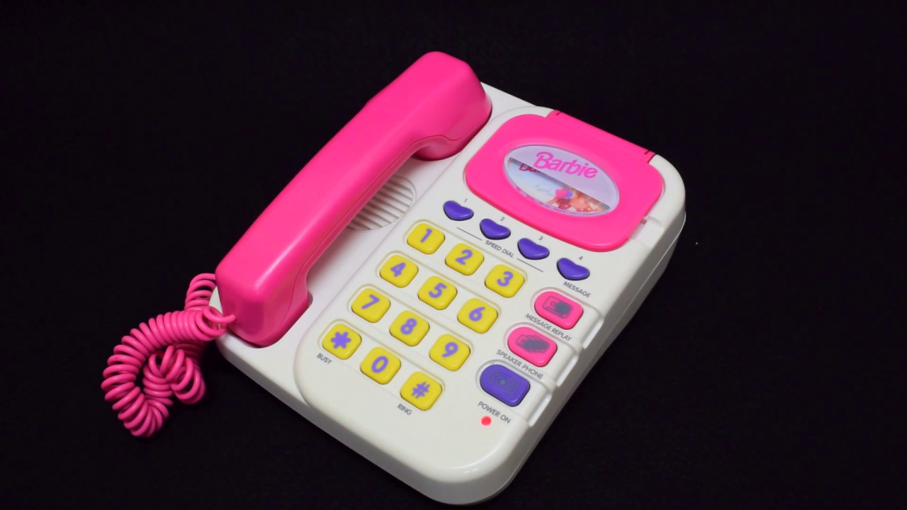 Barbie Toy Phone : Barbie バービー super talking phone answering machine