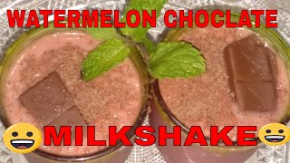 Watermelon Milkshake with Chocolate (Unique Recipe Don