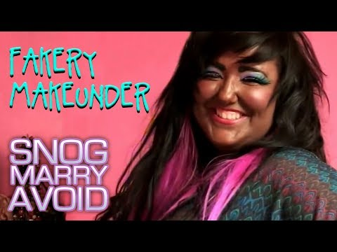 The Queen of Unnatural Beauty Gets a Makeunder | Snog Marry Avoid