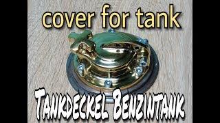 Tankdeckel Benzintank HARLEY Chopper Bobber Cafe Racer cover for tank #2