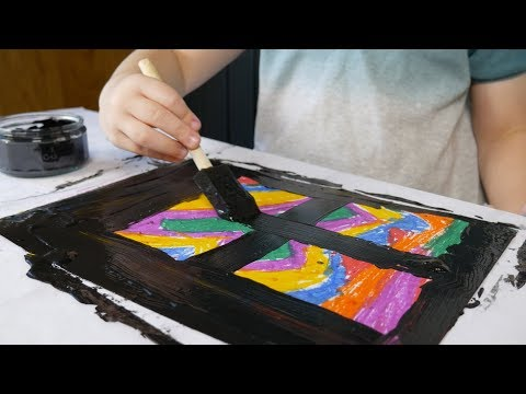 DIY Scratch Art For Kids