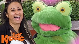 Stuffed Frog CHARMS The Ladies!