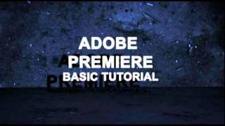 Adobe Premiere Pro CS5 Free Tutorial Introduction