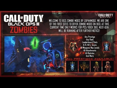 Black Ops 3 Mods - Zombies Package & Pre-Modded Accounts (PS3/PS4, XBOX 360/XBOX ONE, PC)