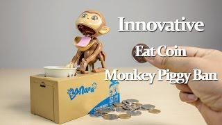 Innovative Eat Coin Monkey Piggy Bank review - Gearbest.com