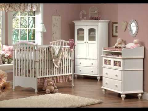 Cheap White Nursery Baby Cribs With Changing Table For Girls - YouTube