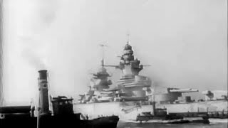 "Most powerful French battleship ""Richelieu"" modernised in America - 1943"