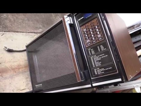 1983 vintage kenmore convection microwave youtube. Black Bedroom Furniture Sets. Home Design Ideas