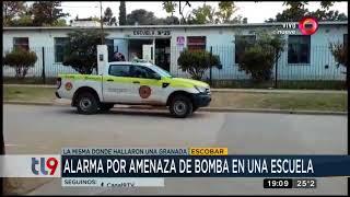 Alarma por amenaza de bomba en un escuela