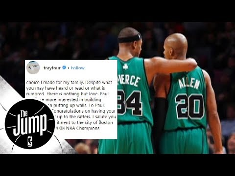 Ray Allen's Instagram post make up for missing Paul Pierce's jersey retirement?   The Jump   ESPN