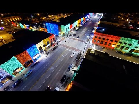 Big Bright Light Show Christmas in Down Town Rochester MI